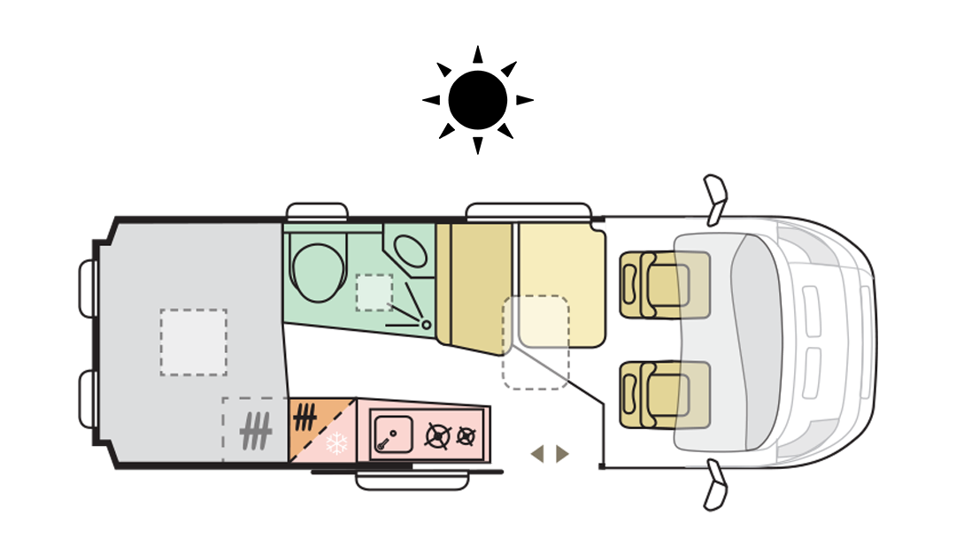 TWIN AXESS 600 SP - Day Layout