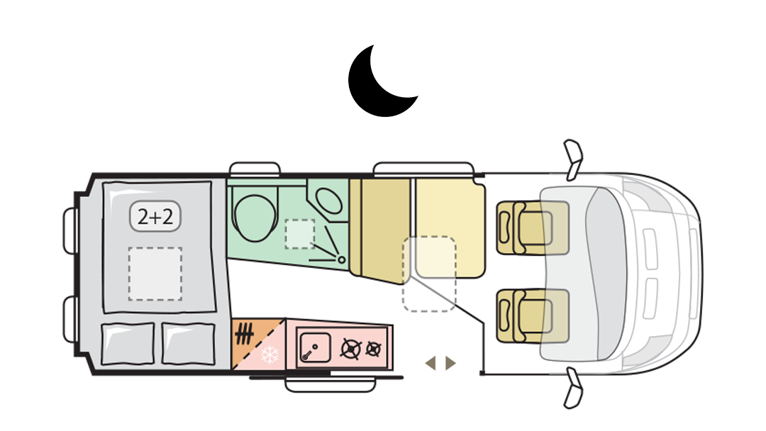 TWIN AXESS 600 SP FAMILY - Night Layout