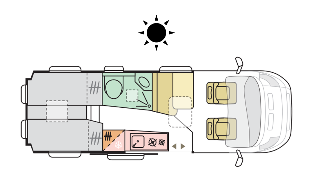 TWIN AXESS 640 SL - Day layout