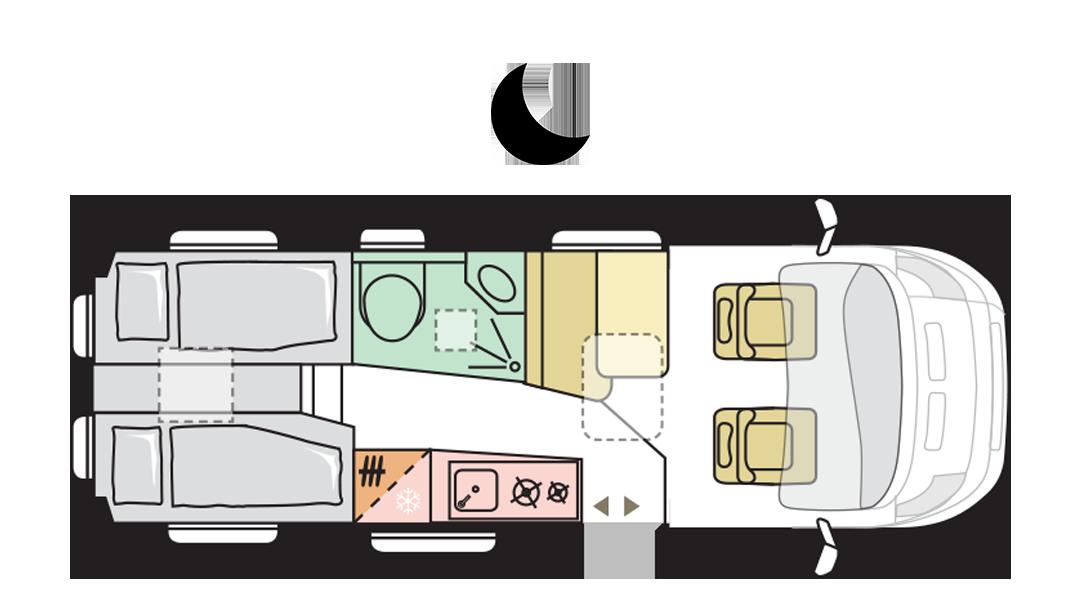 TWIN AXESS 640 SL - Night layout