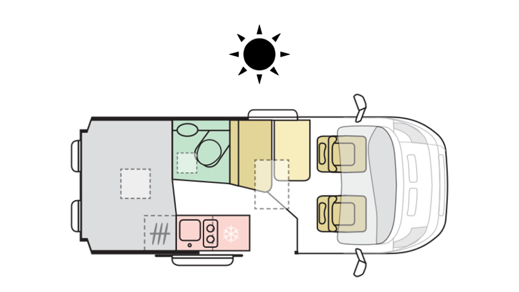 TWIN PLUS 540 SP - Day Layout
